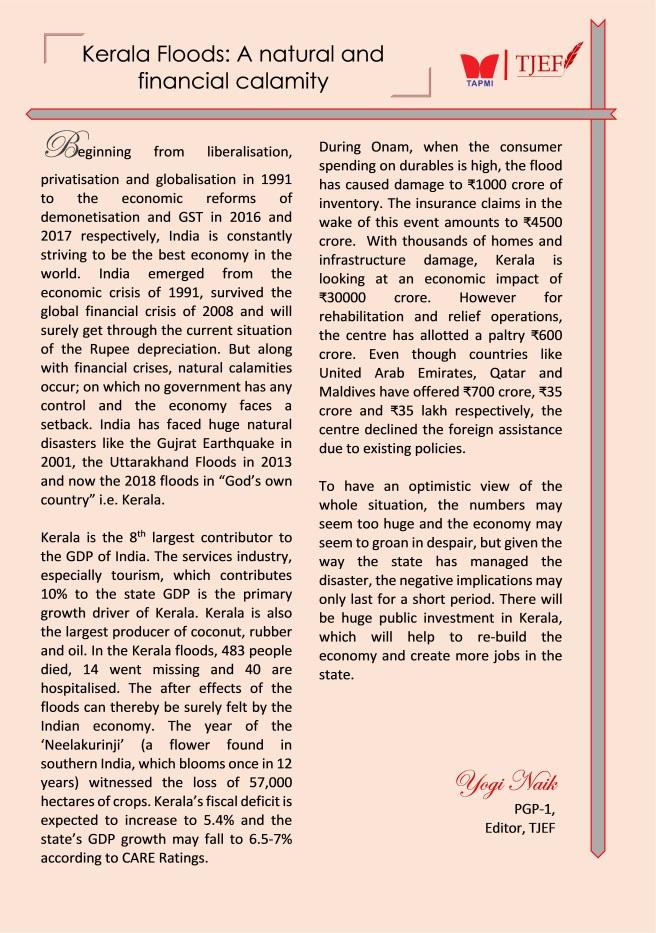 Yogi_Kerala Floods - A natural and financial calamity